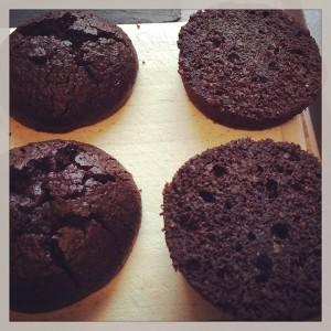 Black Forest Mini Cakes aufgeschnitten