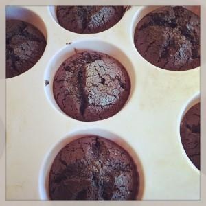Black Forest Mini Cakes gebacken in form