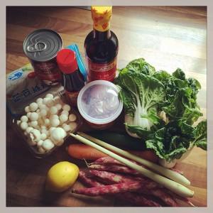 Thai Curry veggie Zutaten