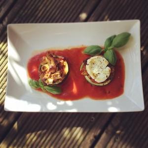 Zucchini Mediterran ganzer Teller