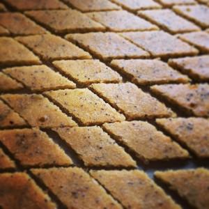 Chia-Rauten gebacken