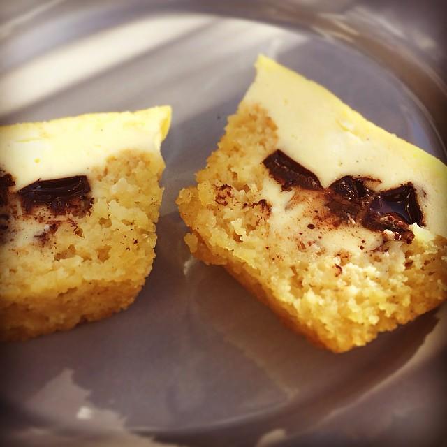 Chocolate-Cheesecake halbiert