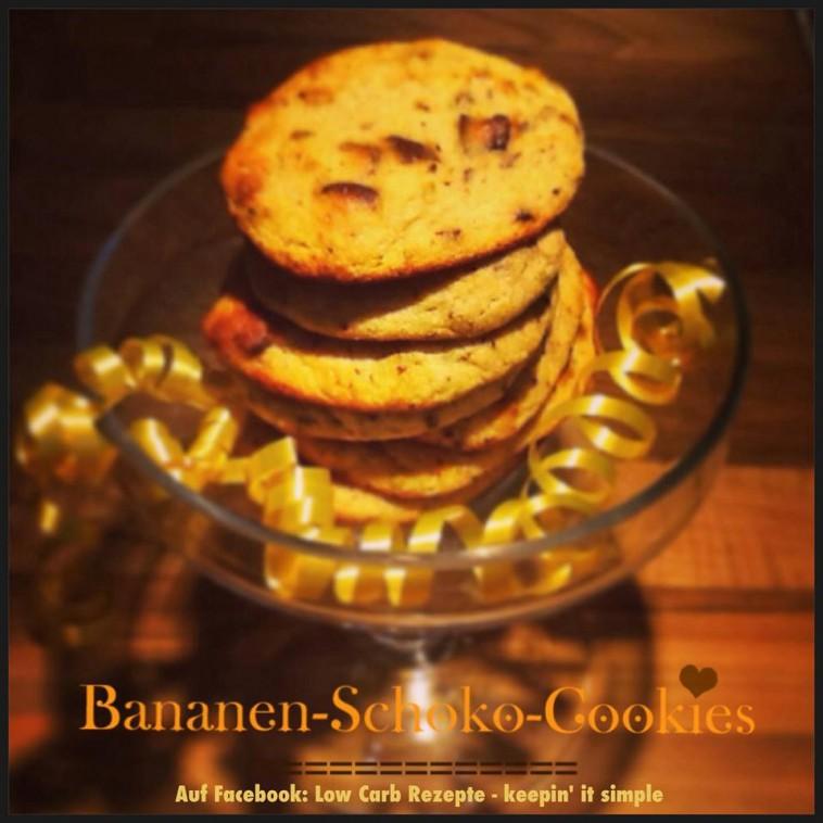 Bananen-Schoko-Cookies nur mit der Süße der Banane