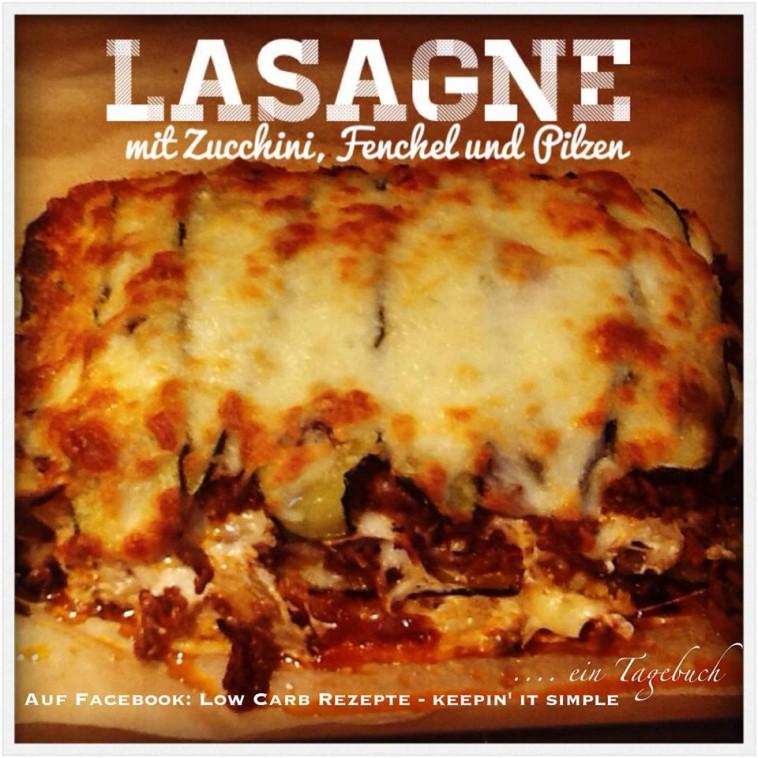 Lasagne mit Zucchini, Fenchel und Pilzen