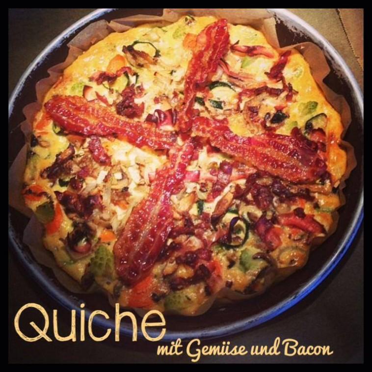 Quiche mit Bacon - knusprig und lecker
