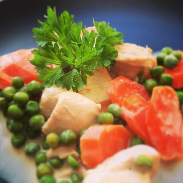 Hähnchen-Geschnetzeltes mit Gemüse