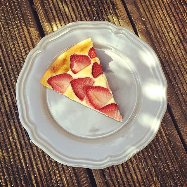 Erdbeer-Cheesecake fertig Stück 2