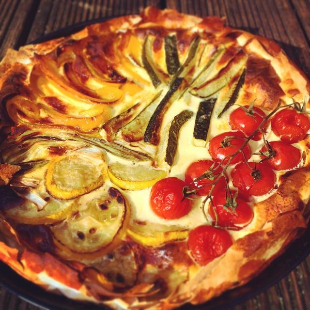 vegetarische Gemüse-Quiche