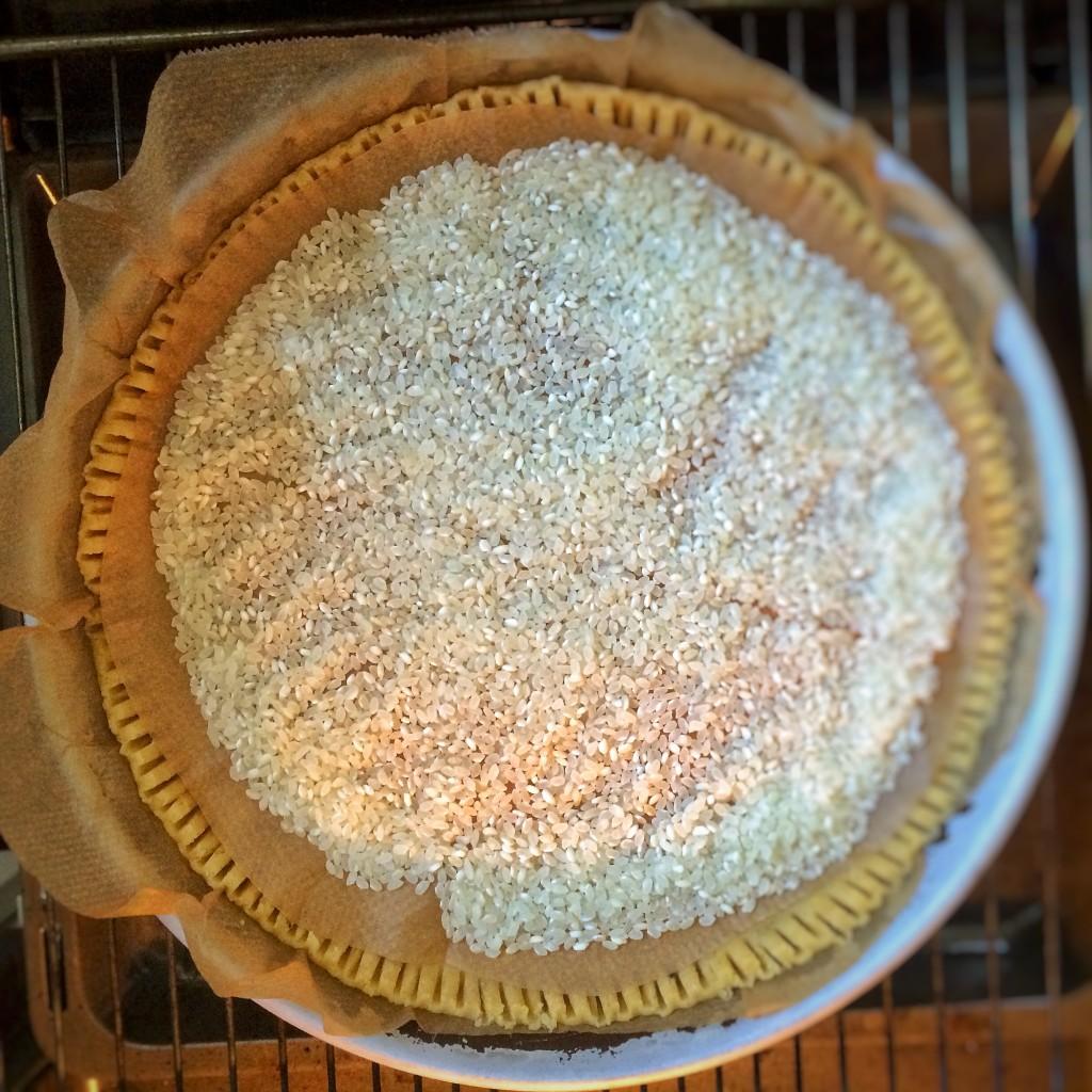 Strawberry Pie blind backen