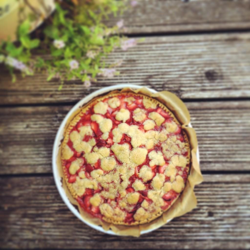 Strawberry Pie ganz draussen