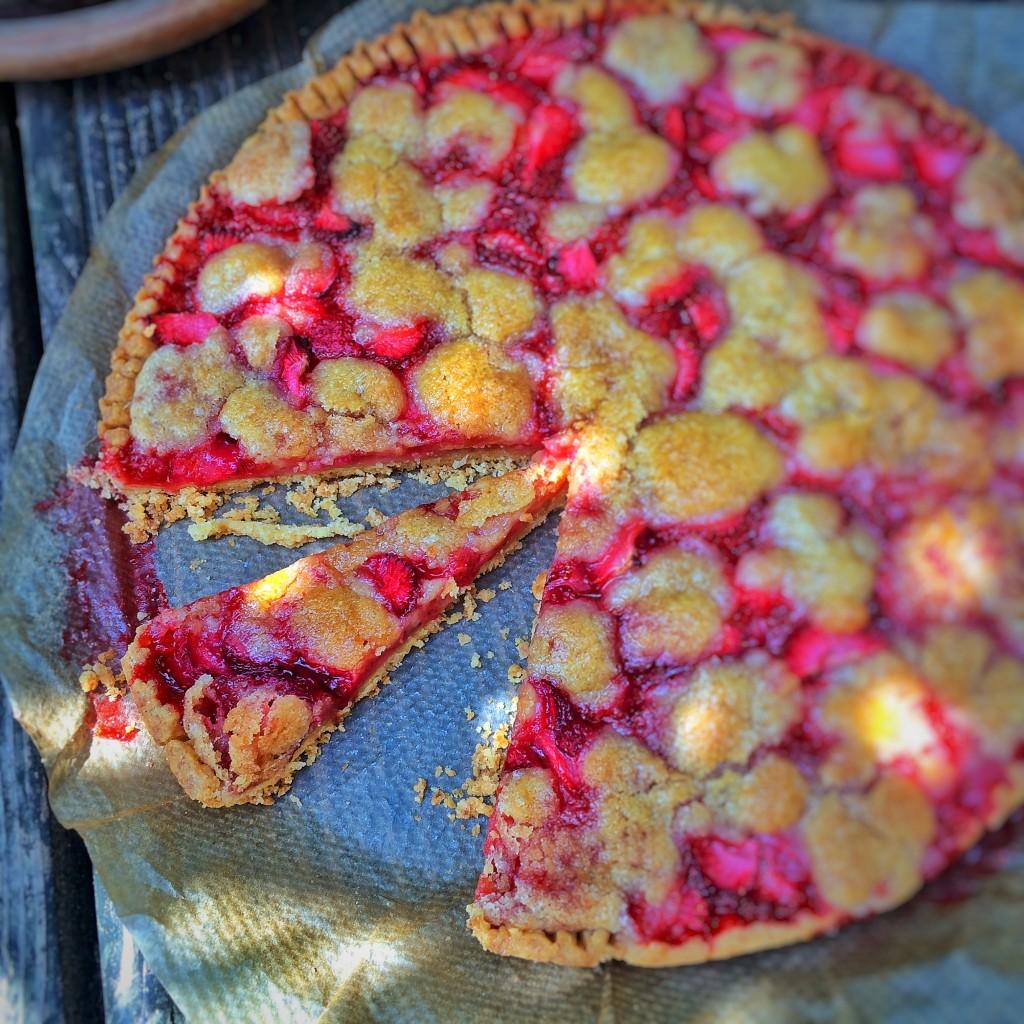 Strawberry Pie gebacken aufgeschnitten