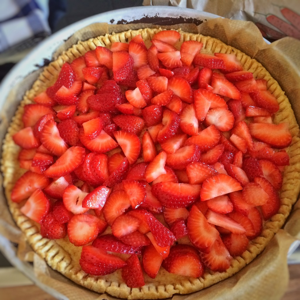 Strawberry Pie roh Erdbeeren