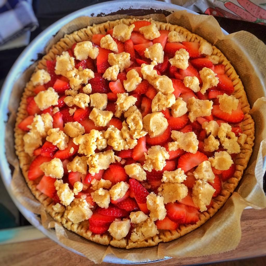 Strawberry Pie roh mit Streiseln
