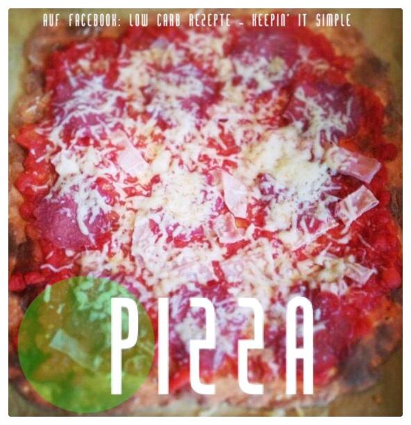 Low Carb Pizza fertig