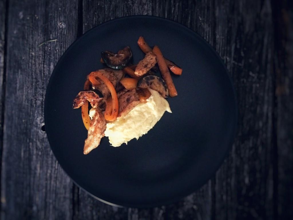 Pastinaken-Püre mit Huhn 4