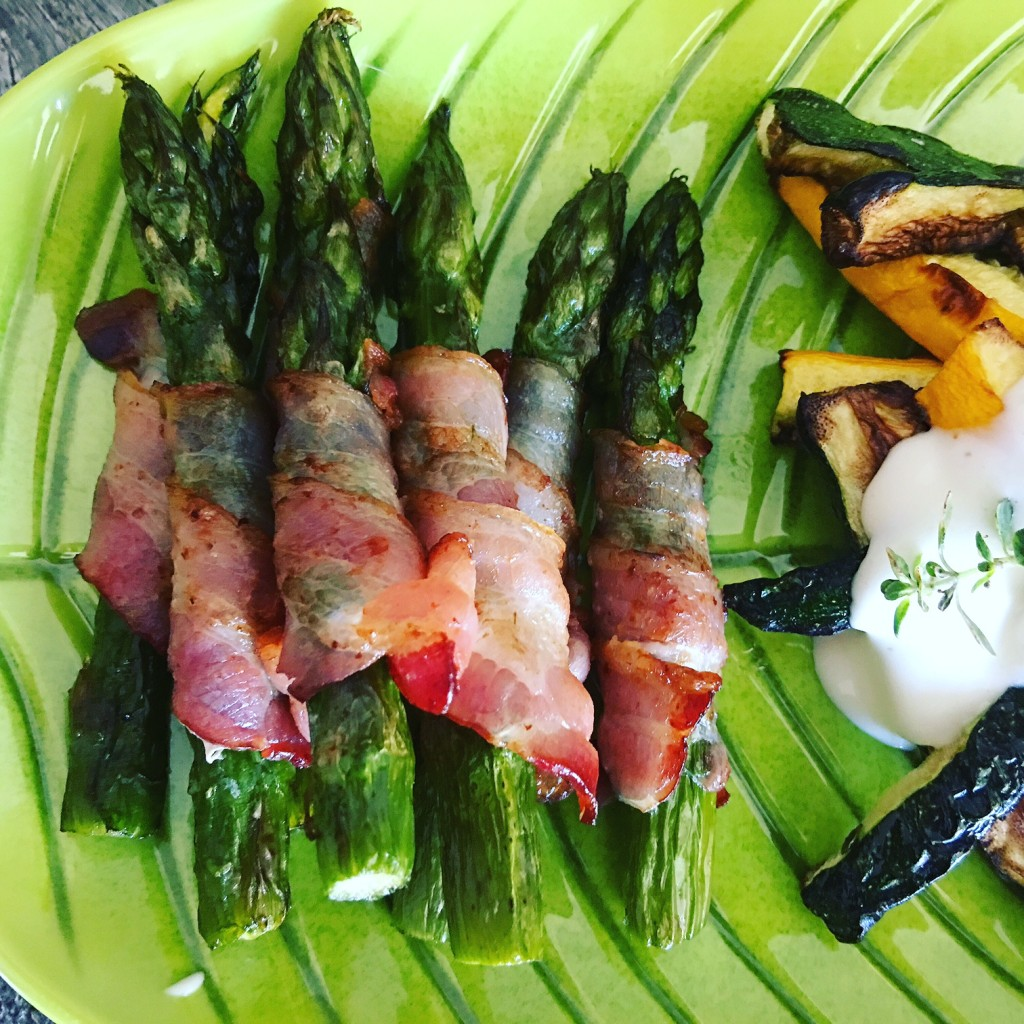 Spargel Bacon