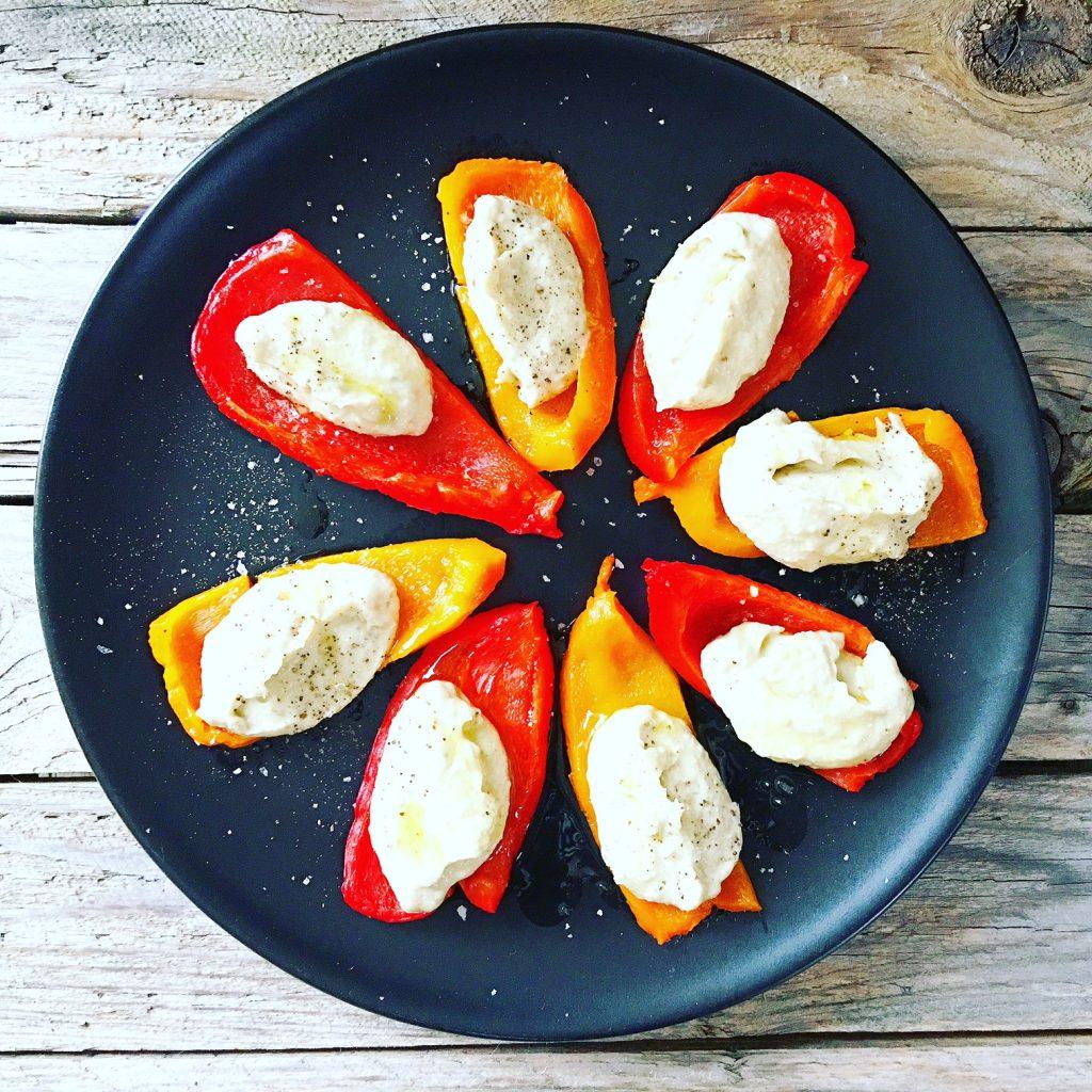 Auberginen Creme Zubereitung Paprika