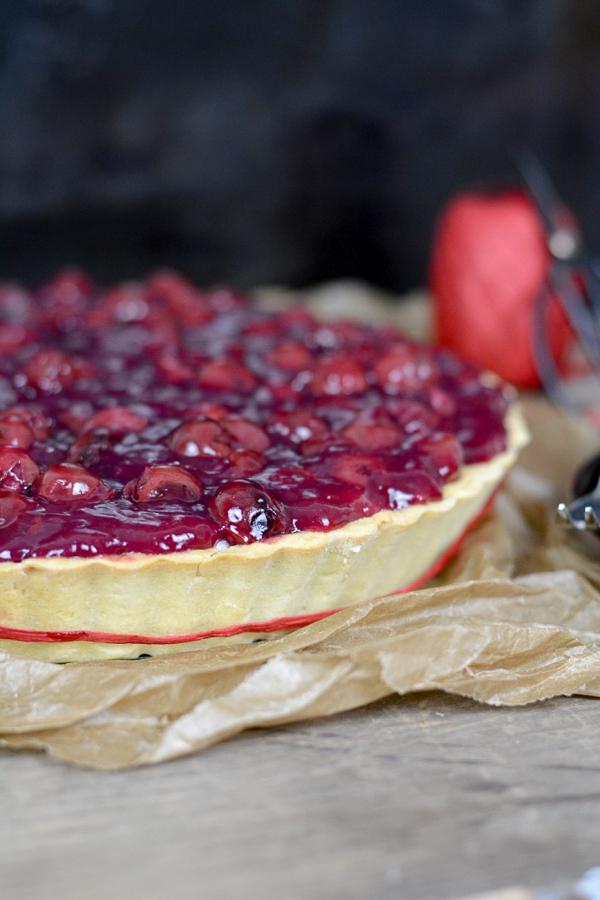 Marzipan Kirsch Pie Step by Step erklärt