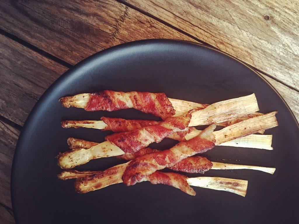 Gebratener Spargel mit Bacon 3