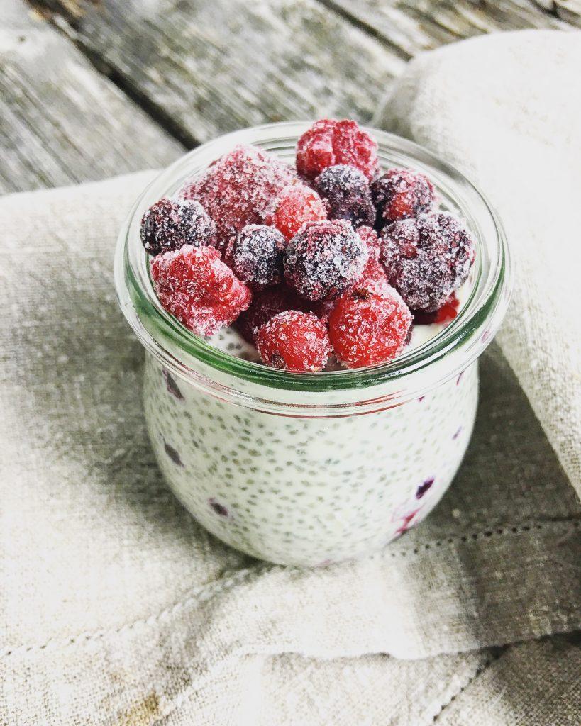 Chiapudding Früchte 1