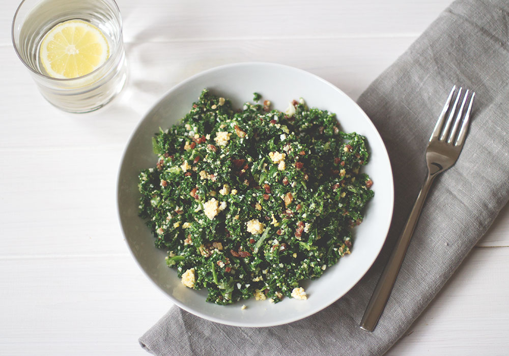 Protein Power Salat mit Grünkohl