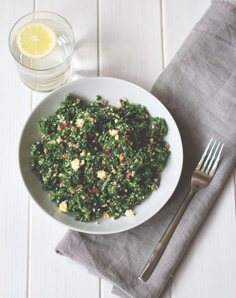Grünkohl als Salat