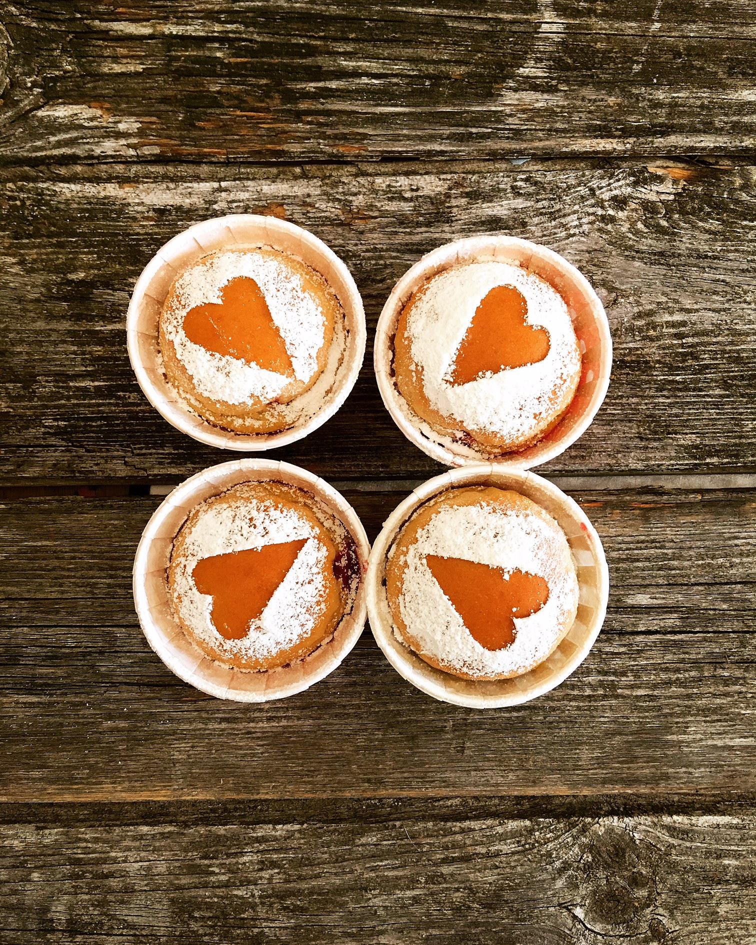 Krapfen Cupcakes aus dem Backofen, nicht nur im Karneval der Hit!
