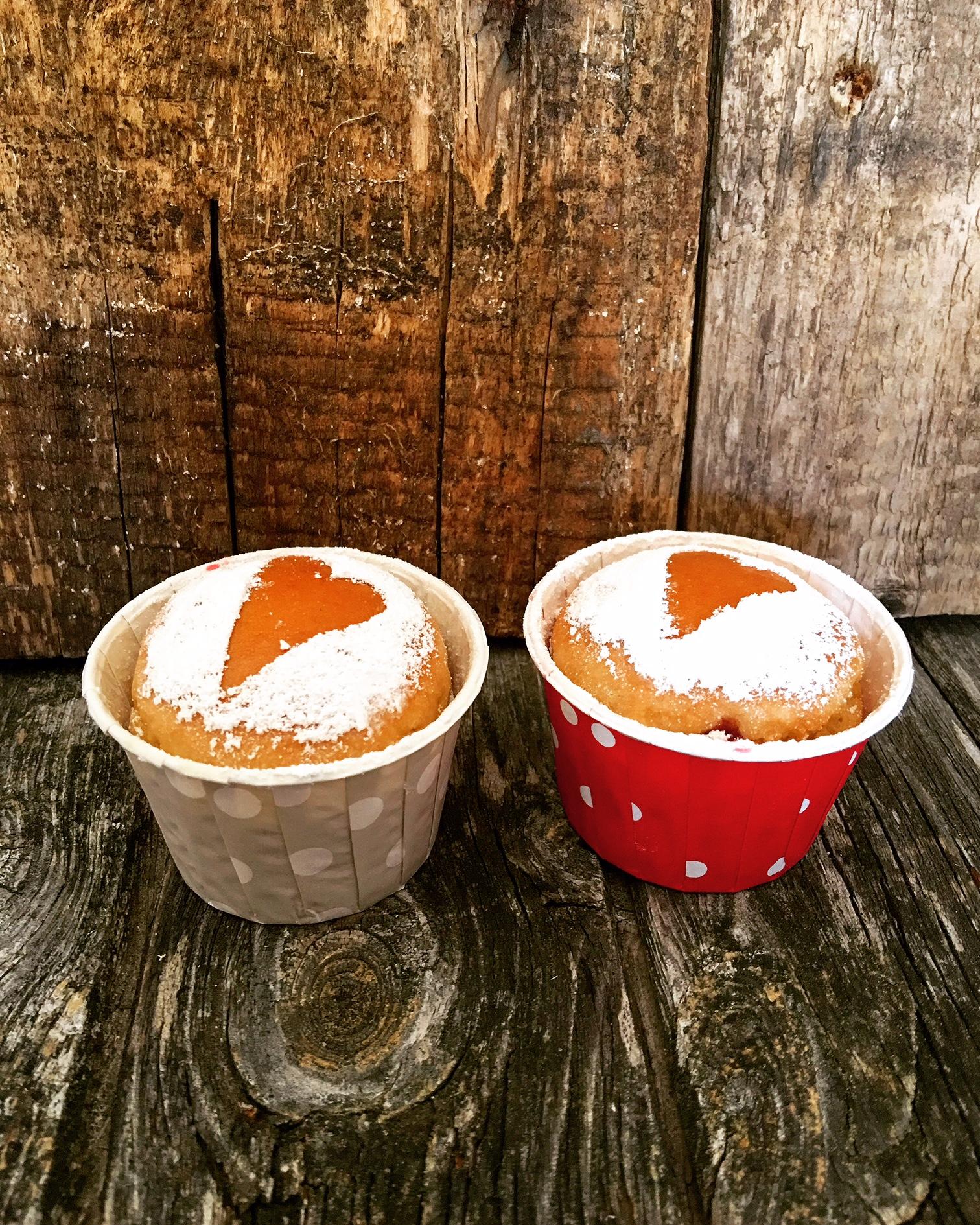Krapfen Cupcakes aus dem Ofen gesund