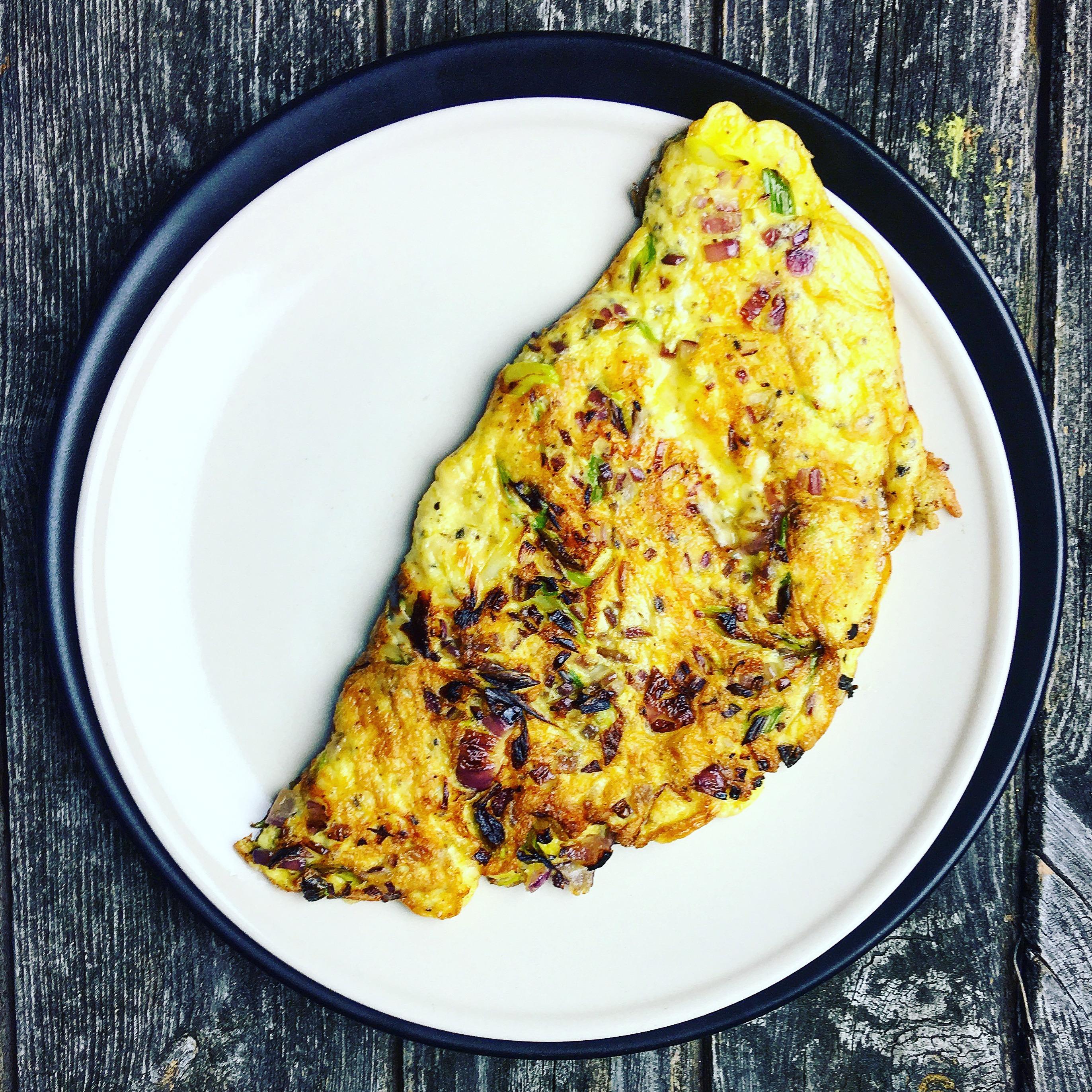 Trüffelkäse Omelette Low Carb und schnell
