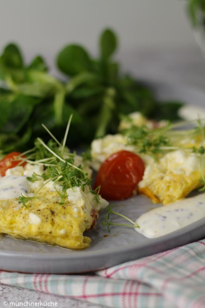 Tomaten-Omelette mit Senfsoße LC