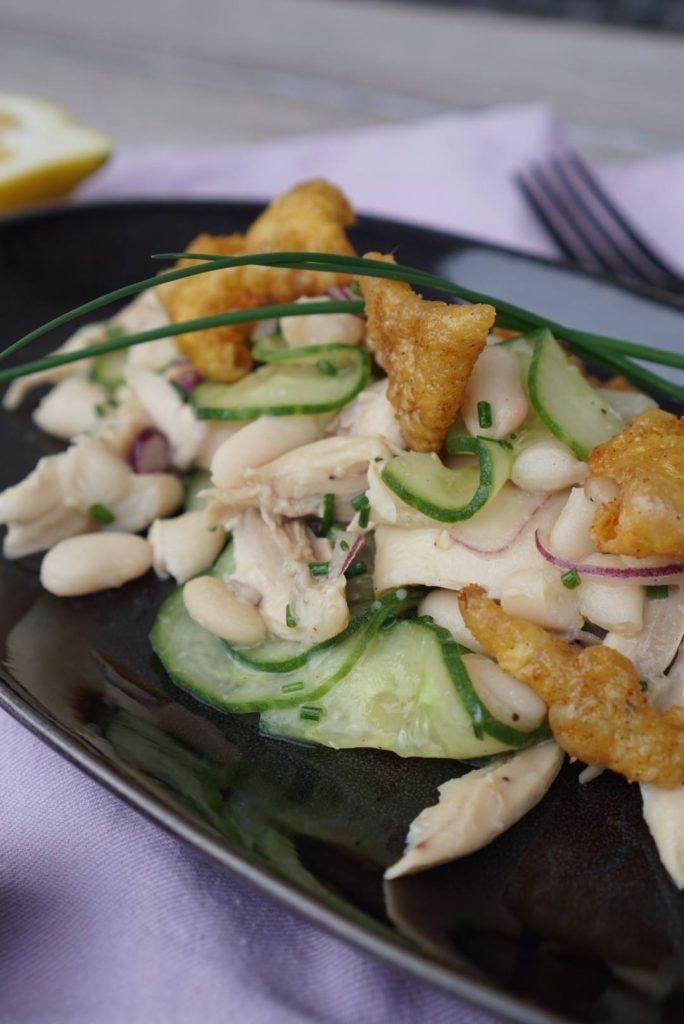 Geflügelsalat mit Cannellini Bohnen gesunde Küche