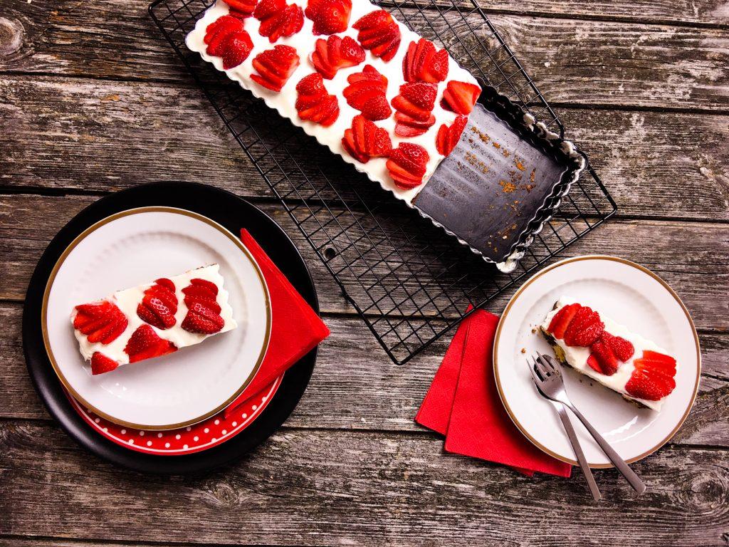 Schoko-Vanille-Tarte ohne Zucker