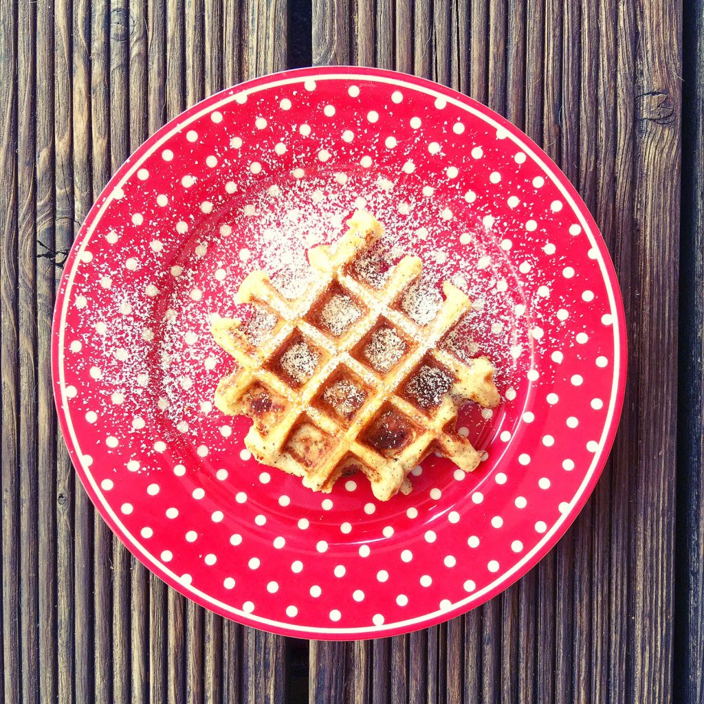 Apfelkuchen-Waffeln low carb in der Tefal Snack Collection