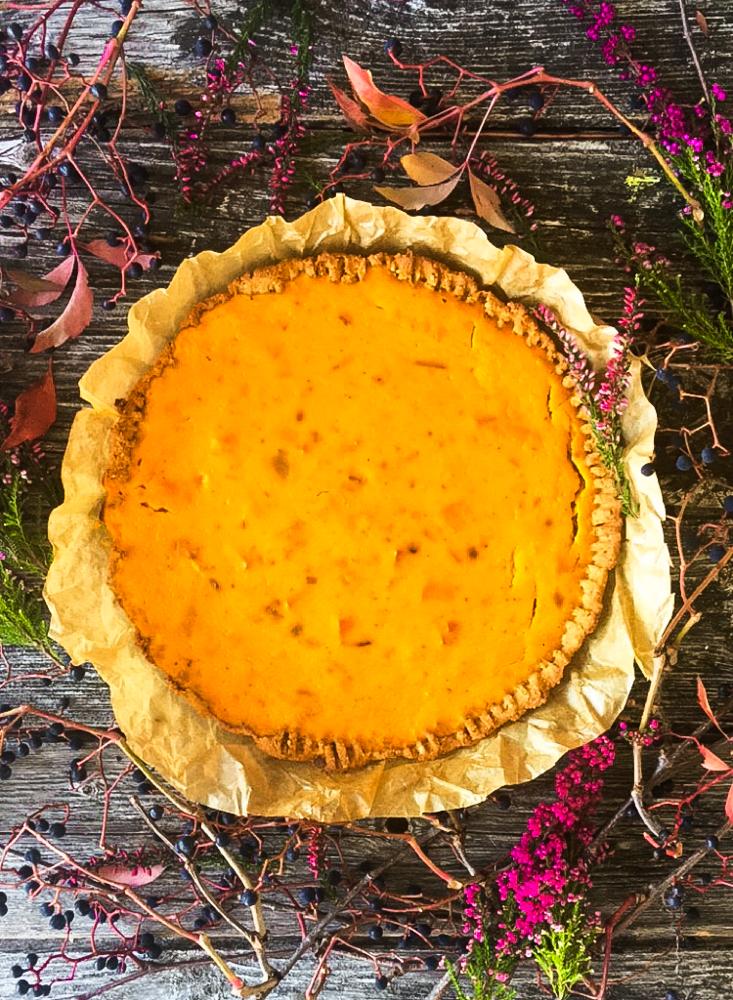 Kürbis Pie Low Carb ohne Mehl