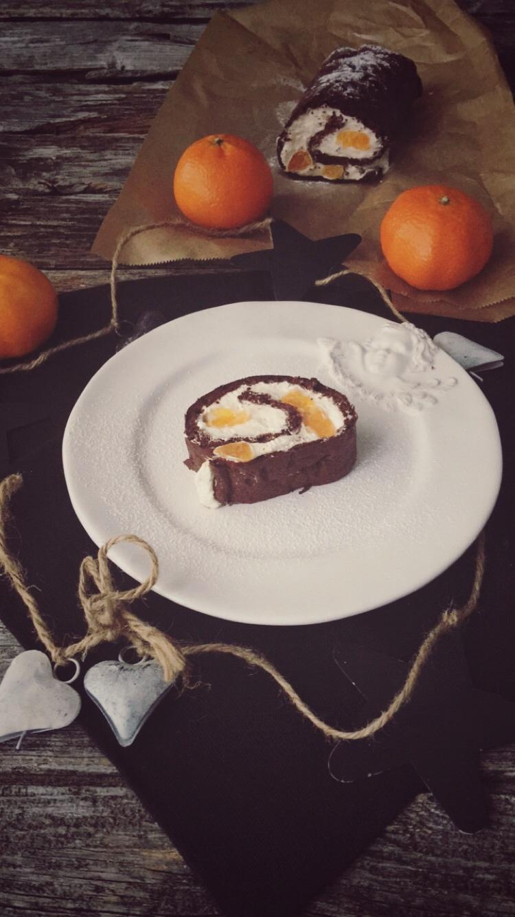 Schokoladen Biskuitrolle Low Carb Eine Echte Fitness Rolle