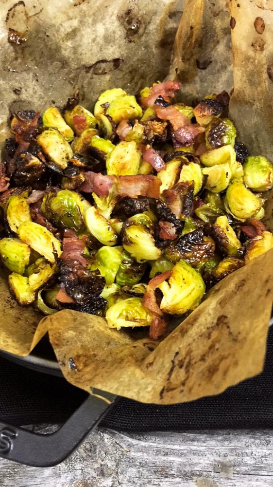 Rosenkohl im Ofen geröstet mit Bacon schnell und lecker!