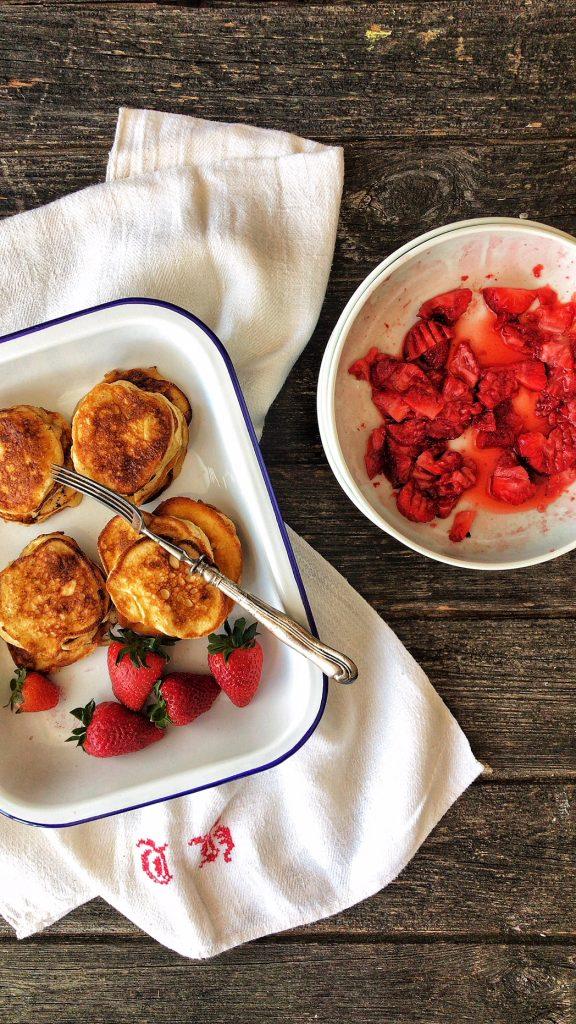 Schnelle und einfache Ricotta Pancakes Low Carb