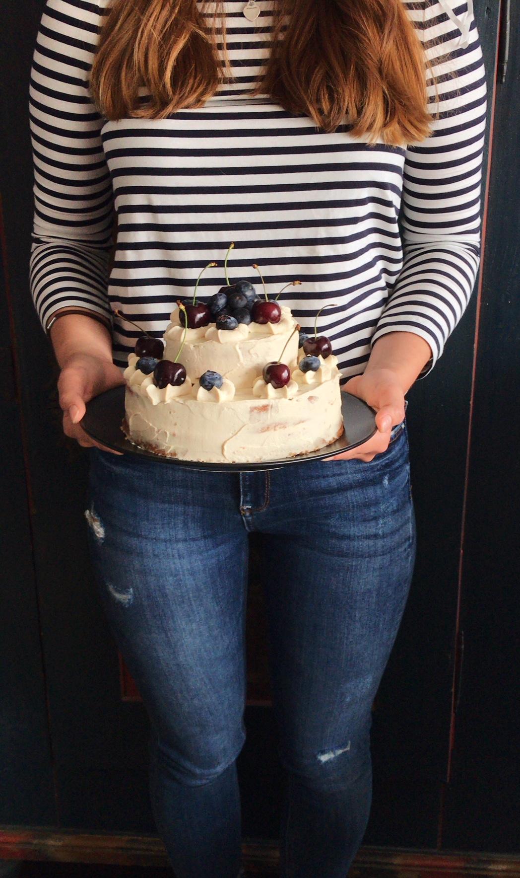 Cappuccino Torte mit Dinkelmehl
