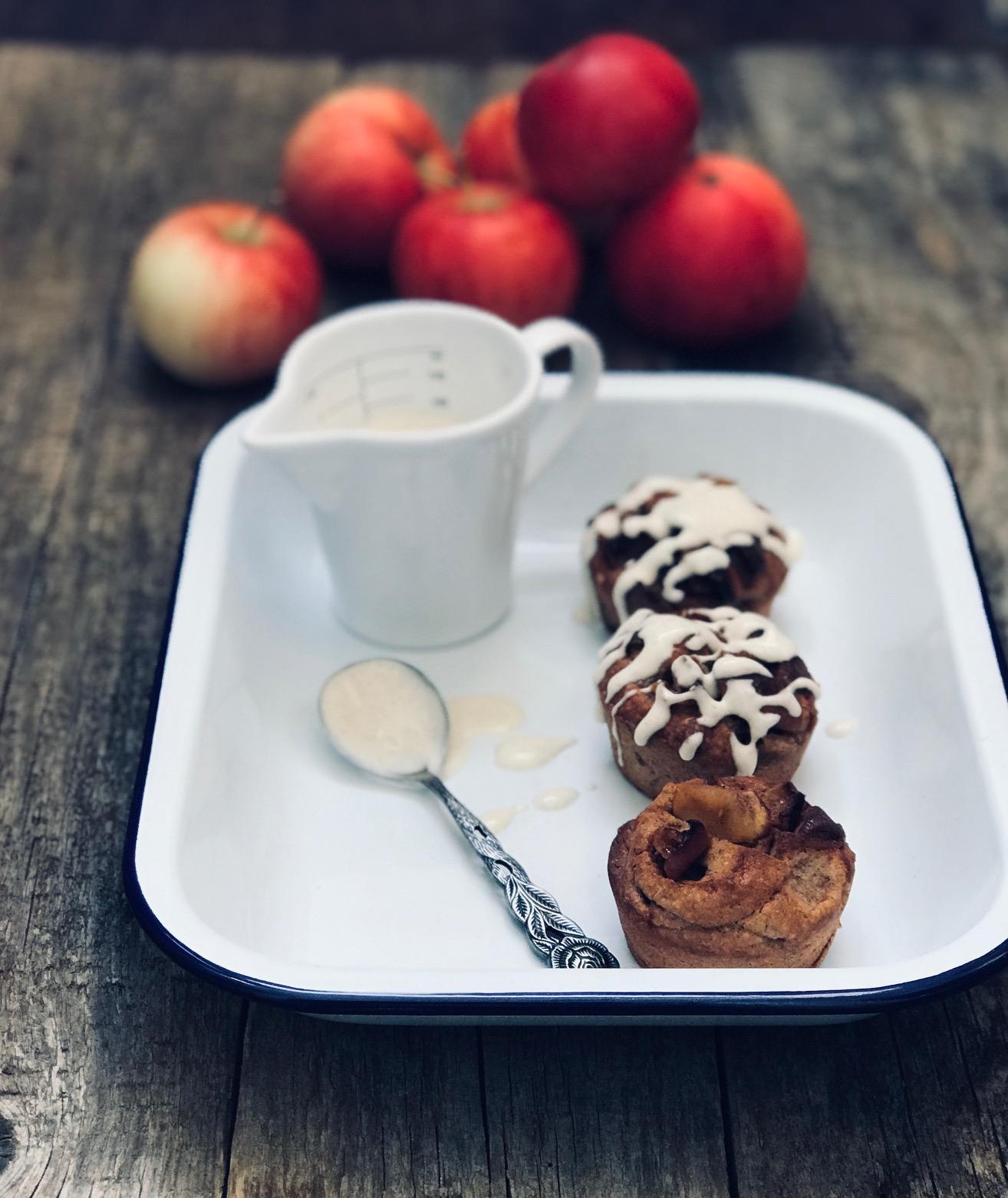 Die einfachsten Bratapfelmuffins Low Carb Rezept