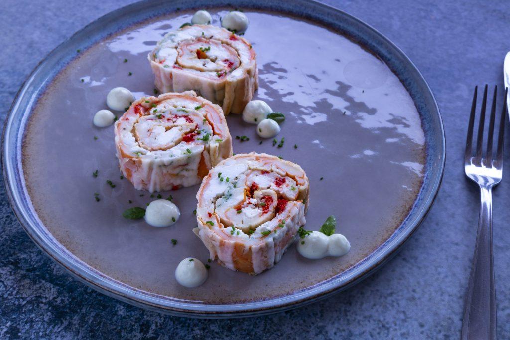 Low Carb Ofenpfannkuchen mit Gemüse & Feta
