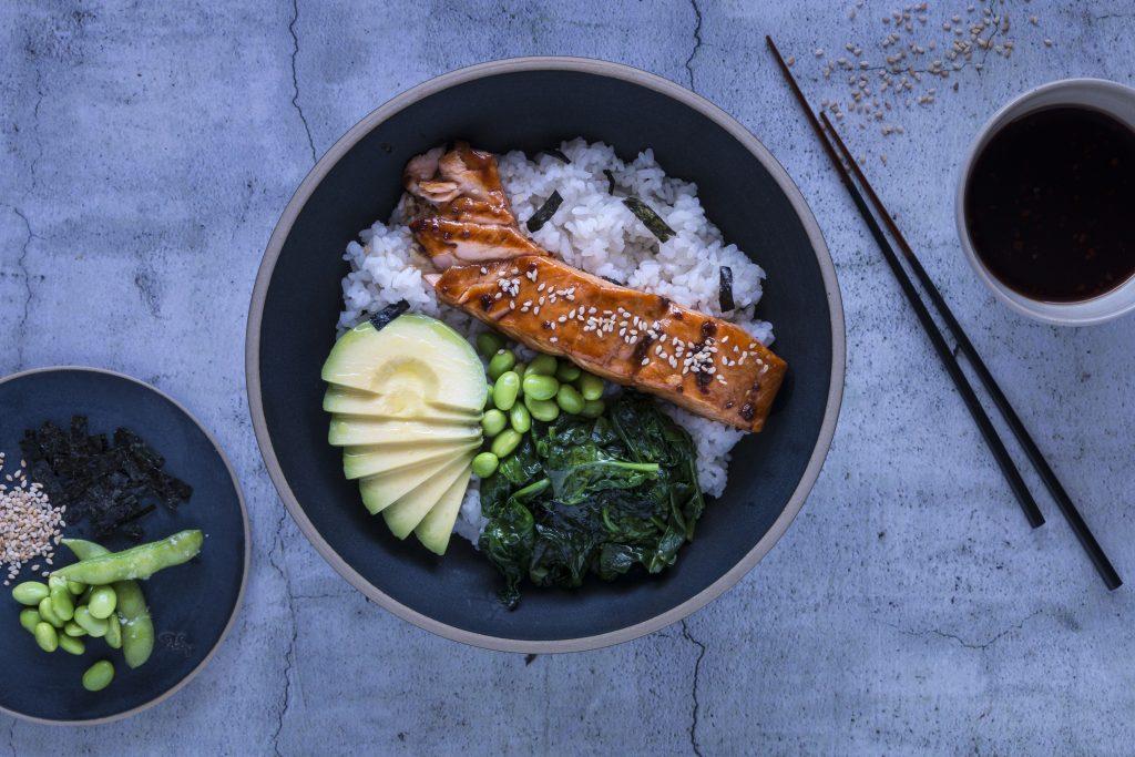 Terriyaki-Lachs mit Gemüse