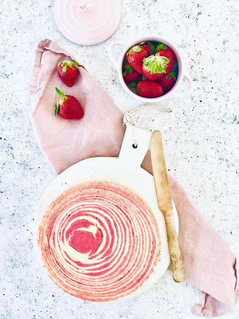 Zebra Erdbeer Cheesecake
