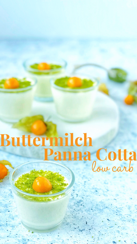 Buttermilch Panna Cotta Low Carb