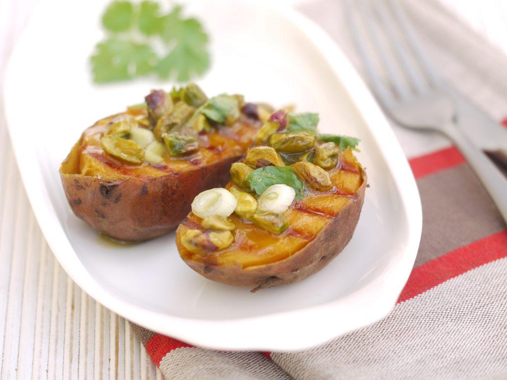 Gegrillte Süßkartoffel