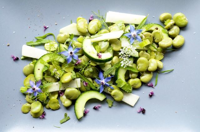 Salat mit dicken Bohnen