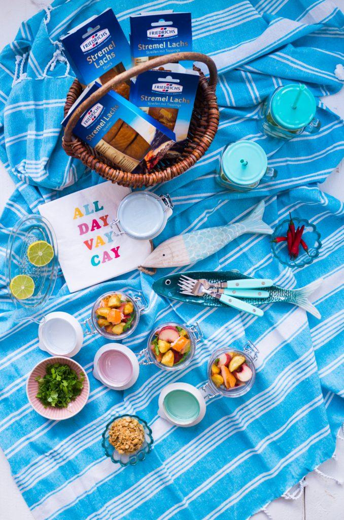 Picknick mit Stremel Lachs Salat
