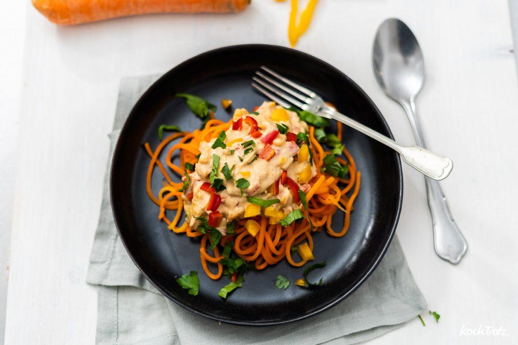 Karottenspaghetti ganz einfach