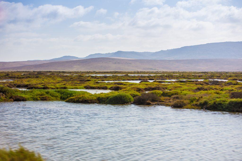 Lagunen vor der andalusischen Küste