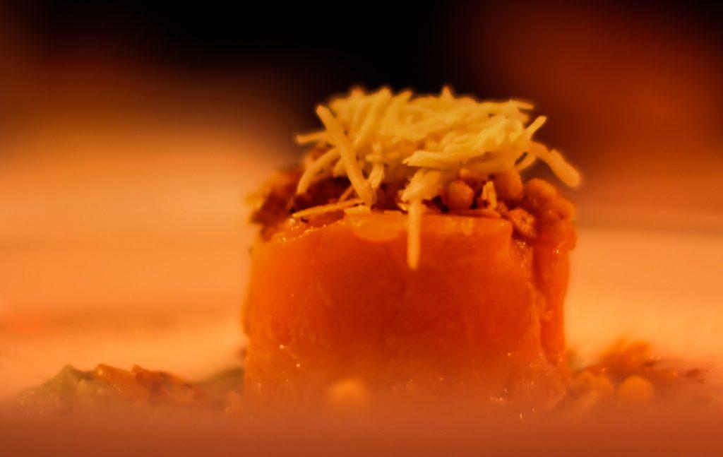 Forellentürmchen mit Meerrettichhaube