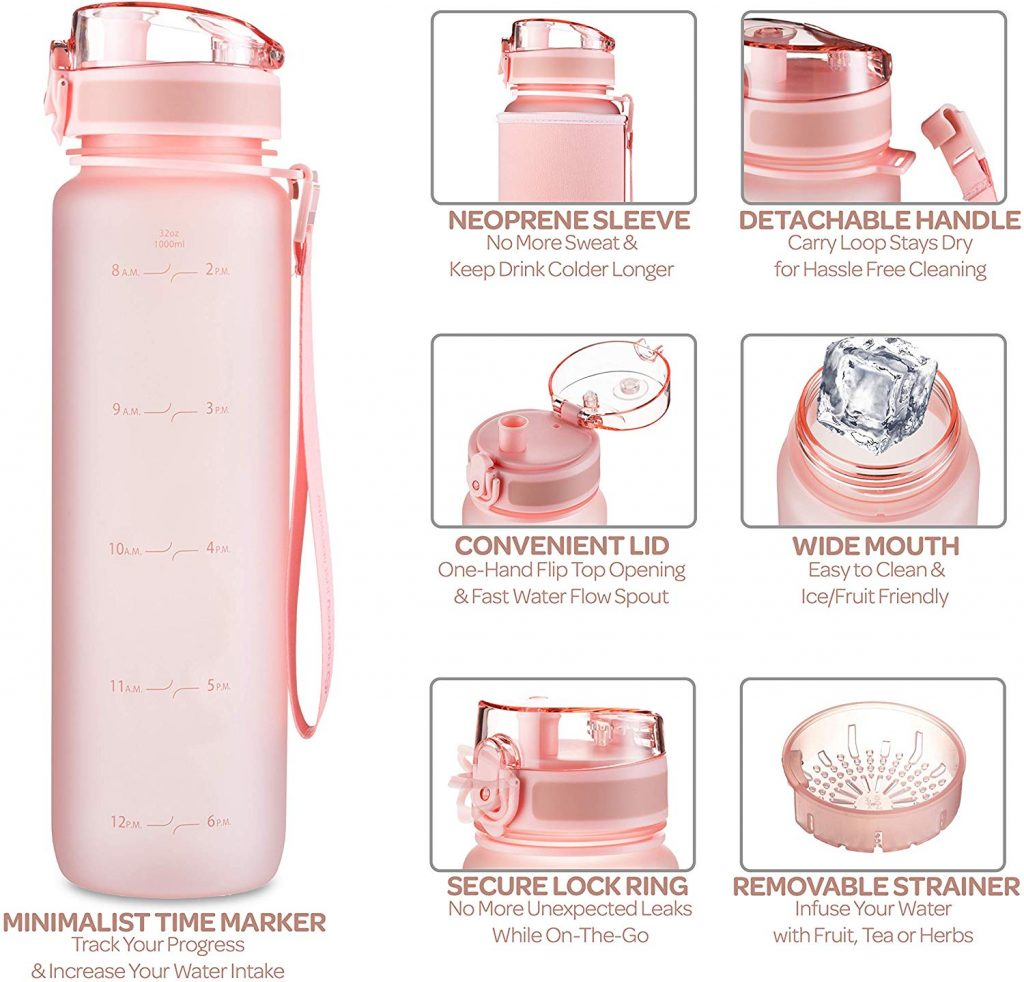 rosa Trinkflasche